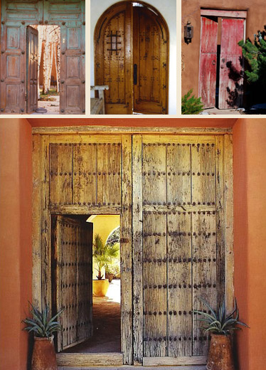Hacienda style mexican doors mexican antique doors old Vintage garage doors for sale